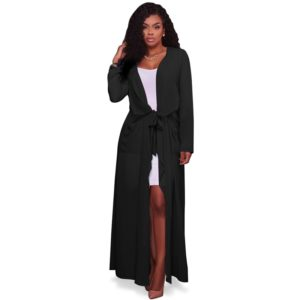 21c0ec0f374 2017 New Fashion Trench Coat for Womens Plus Size Summer Chiffon Trench  Women Cardigan Casual Long Duster Trench Coat Female